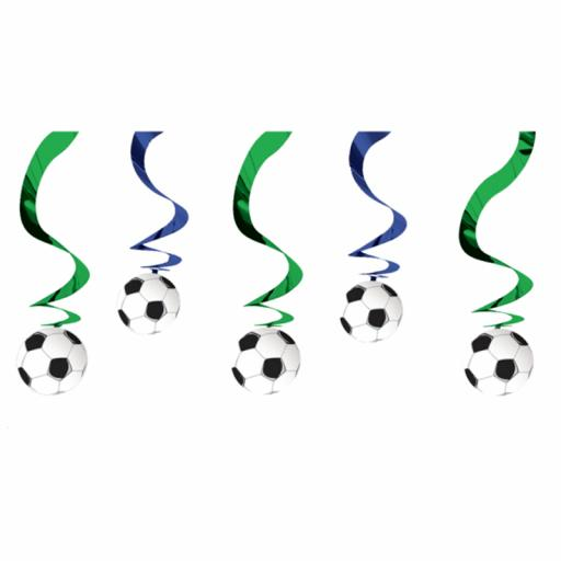 Football Swirl Hanging Decoration