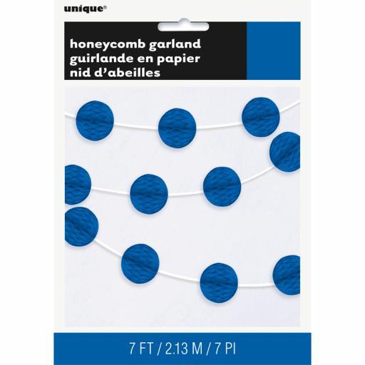 Tissue Honeycomb Garland Royal Blue