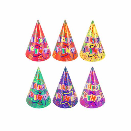 Cone Hat Happy Birthday - Pack of 144