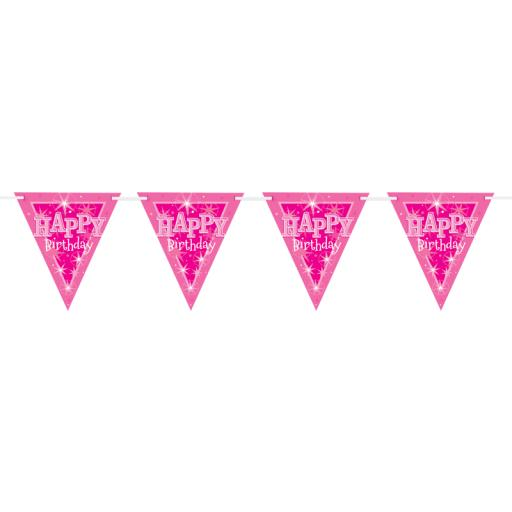 Pink Sparkle Flag Banner