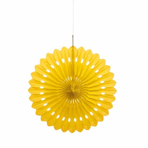 Yellow Decorative Fan