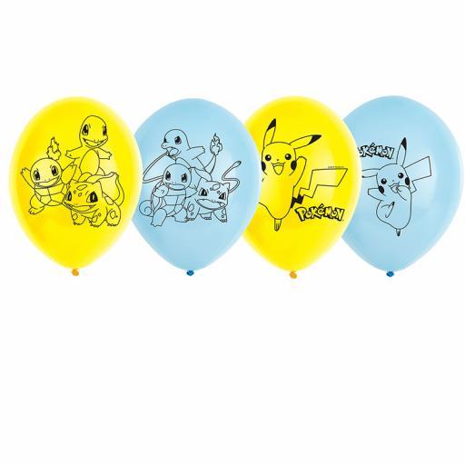 Pokemon Latex Balloons - Pack of 6