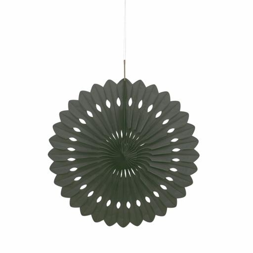 Black Paper Decorative Fan