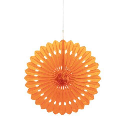 Orange Paper Decorative Fan