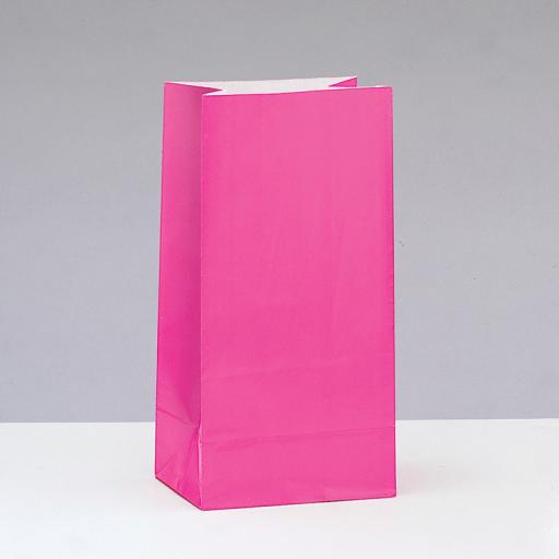 Hot Pink Paper Party Bags