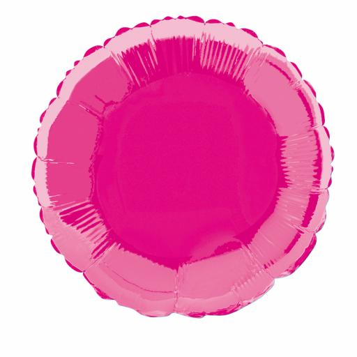 Hot Pink Round Foil