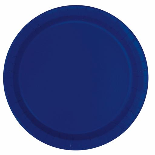 Navy Blue Plates