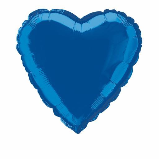 Royal Blue Heart Foil