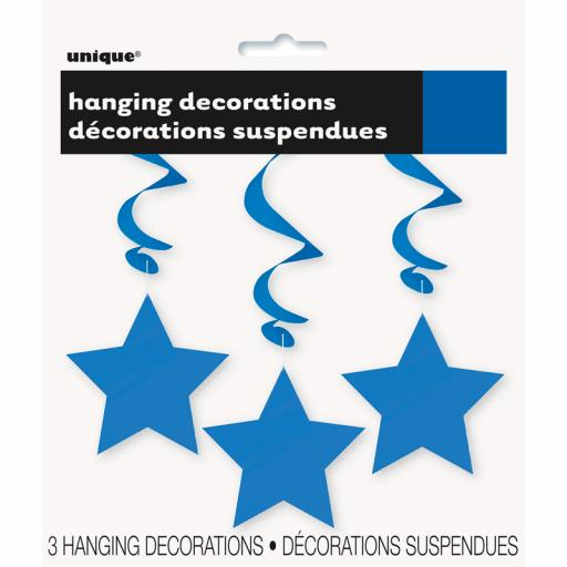 Royal Blue Star Hanging Swirls