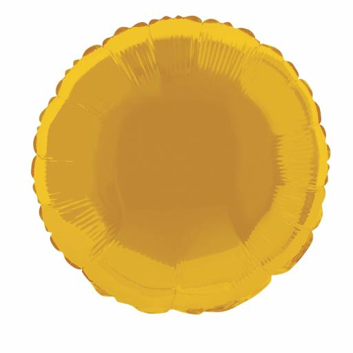 Gold Round Foil