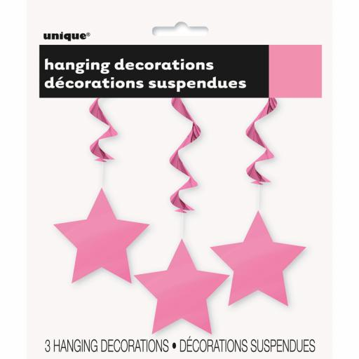 Hot Pink Star Hanging Swirls