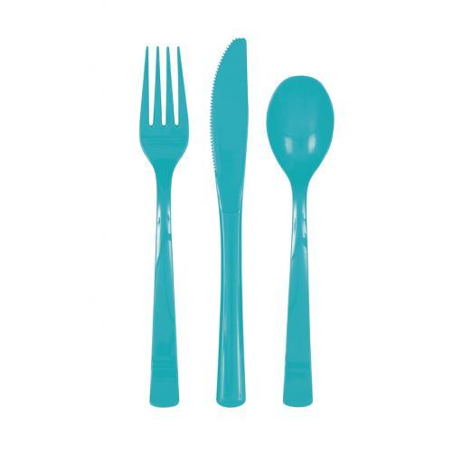 Caribbean Teal Cutlery