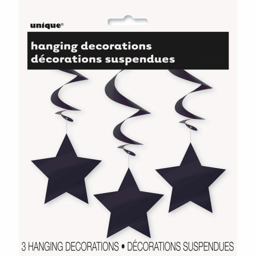 Black Star Hanging Swirls