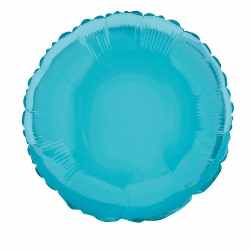 Baby Blue Round Foil