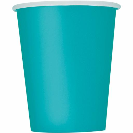 Caribbean Teal Cups