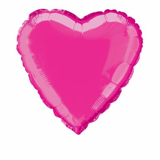 Hot Pink Heart Foil