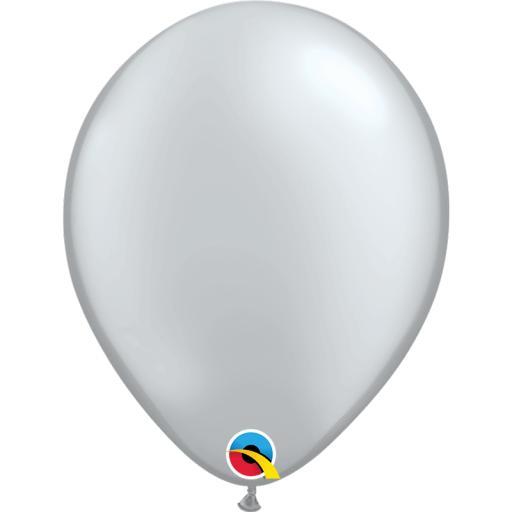 Latex Balloons Metallic Silver