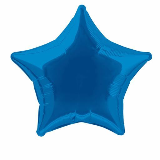Royal Blue Star Foil