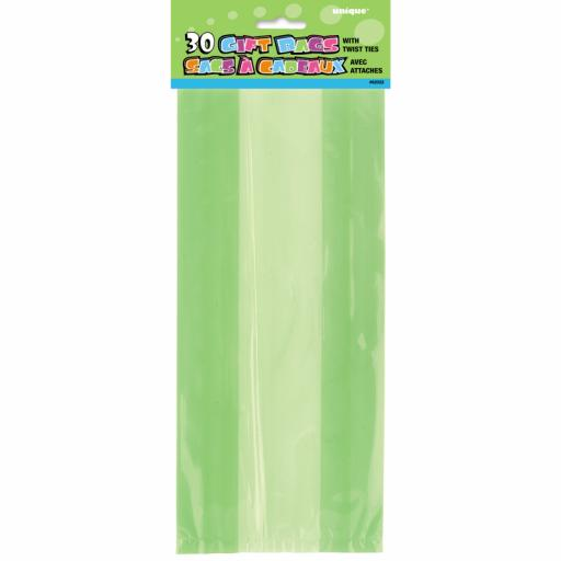 Cello Bag - Lime Green - 6 packs of 30