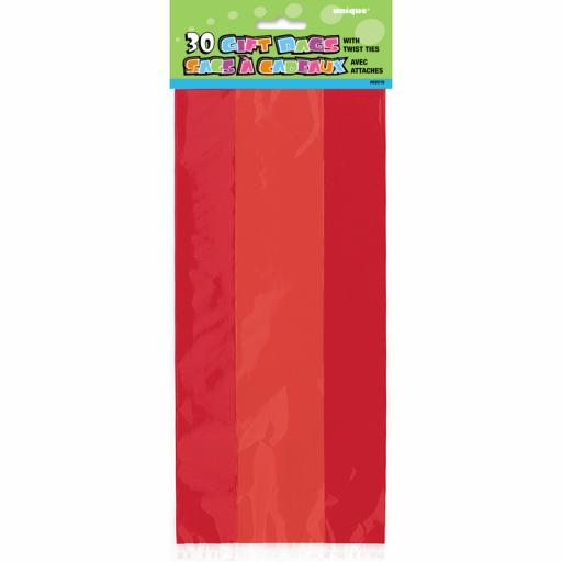 Cello Bag - Red - 6 packs of 30