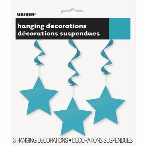 Caribbean Blue Star Hanging Swirls