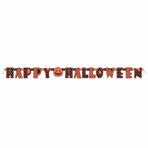 Halloween Dots Letter Banner