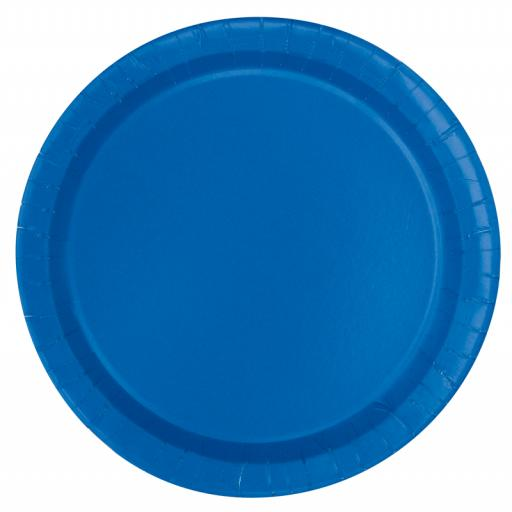 Royal Blue Paper Plates