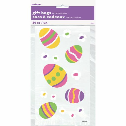 Cello Bag - Easter Eggs - 6 packs of 20