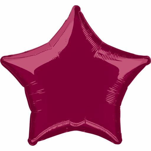 Burgundy Star Foil
