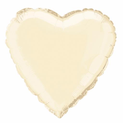 Ivory Heart Foil