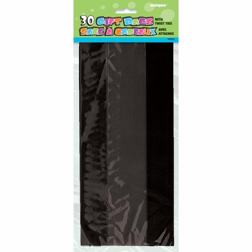 Cello Bag - Black- 6 packs of 30