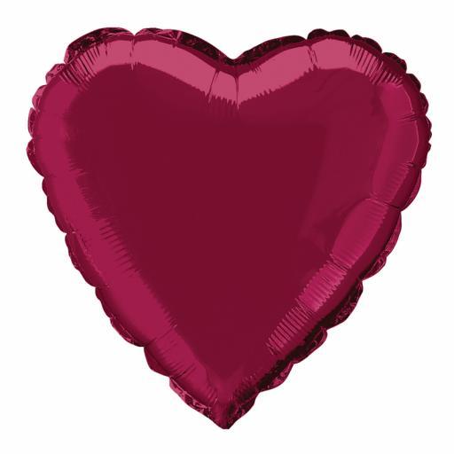 Burgundy Heart Foil