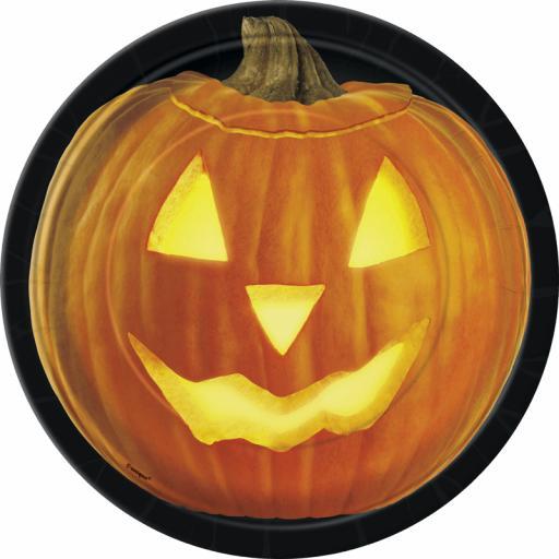 """Pumpkin Glow 7"""" Plates"""