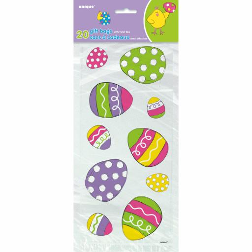 Cello Bag - Bright Easter - 6 packs of 20