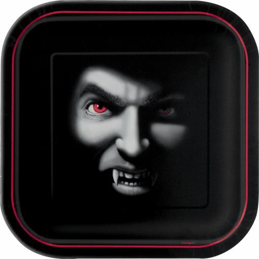 """Vampire 7"""" Square Plates"""