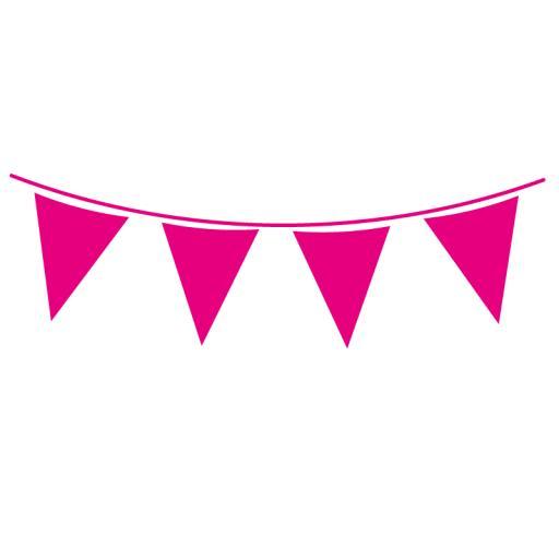 Hot Pink Flag Banner