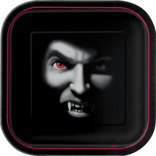 """Vampire 9"""" Square Plates"""
