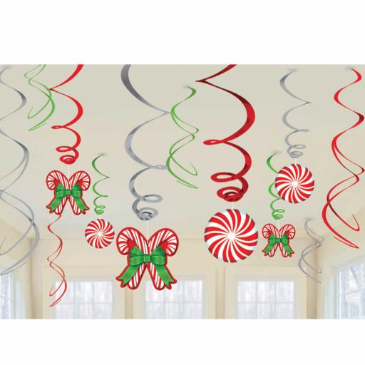 Candy Cane Hanging Swirls