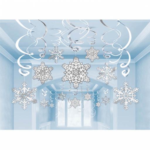 Snowflakes Paper & Foil Swirls (Pk30)