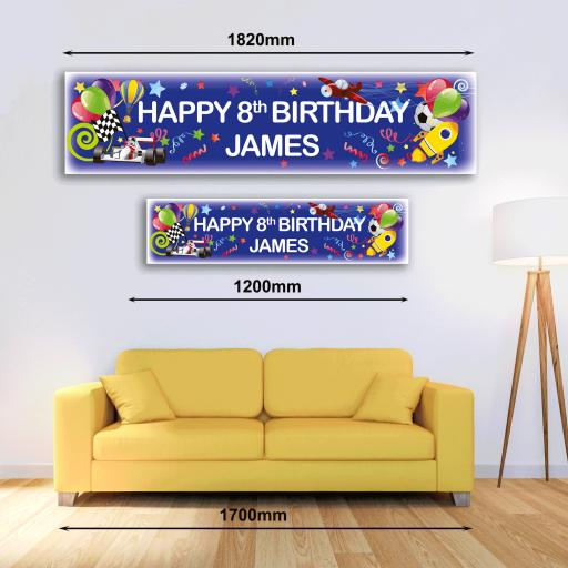 Personalised Banner - Boy Blue