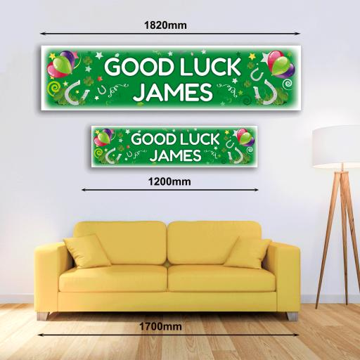 Personalised Banner - Good Luck