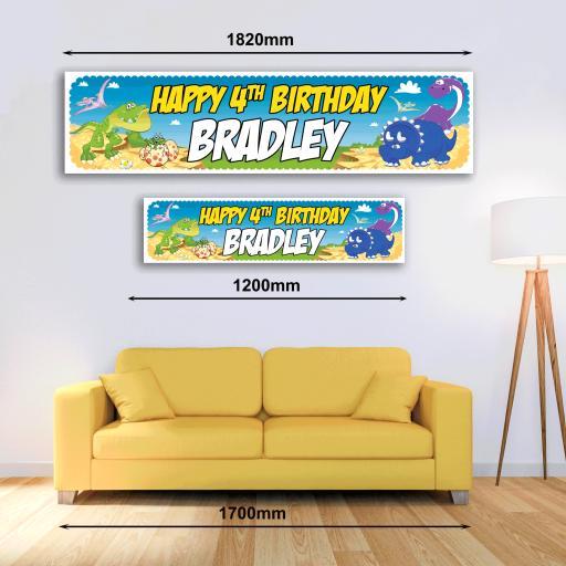 Personalised Banner - Dinosaur