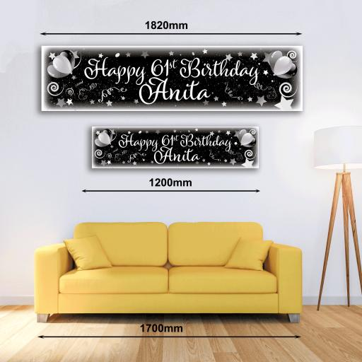 Personalised Banner - Celebrate Champagne