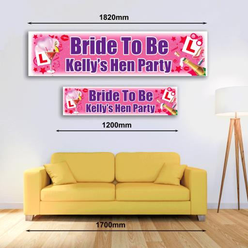 Personalised Banner - Hen Party