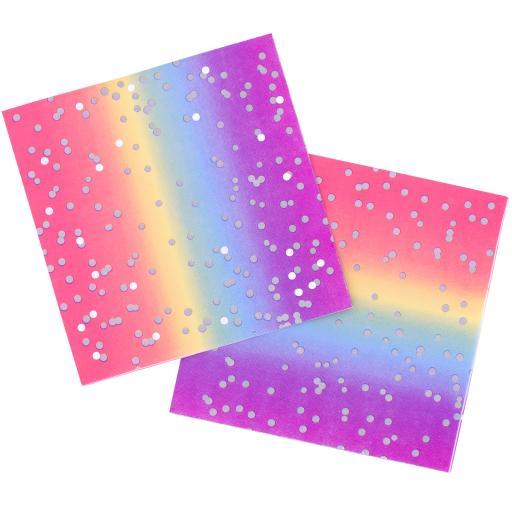 Rainbow Ombre Napkins