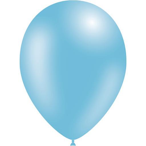 Latex Balloons - Light Blue - Pack of 50