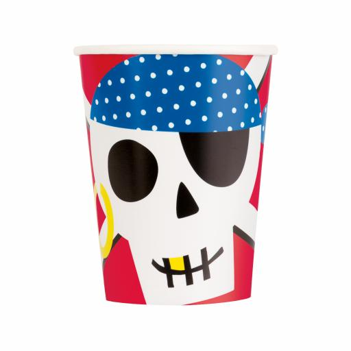 Ahoy Pirate Cups - Pack of 8