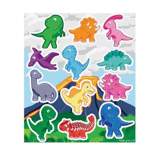 Dinosaur Stickers - Pack of 120
