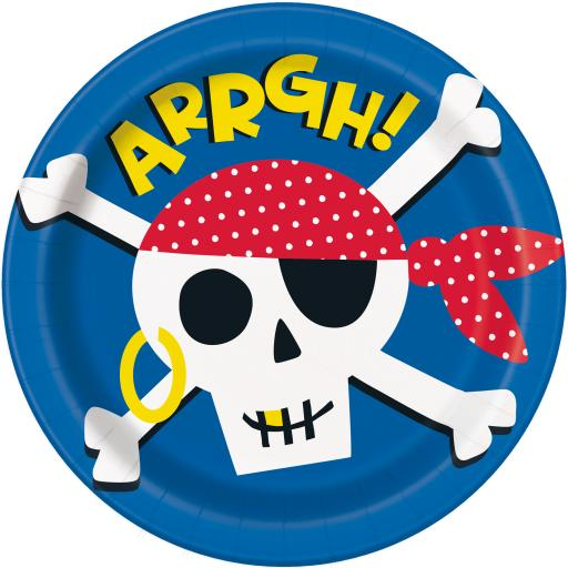 Ahoy Pirate Plates - Pack of 8