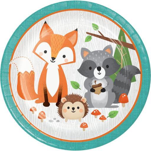 Woodland Animals Plates